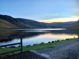 Sunset at Loch Lee
